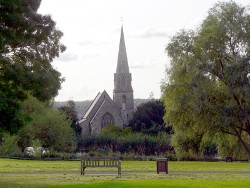 The church seen from the green